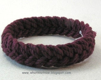 maroon herringbone rope bracelet soft bangle bracelet sailor knot bracelet turks head knot beach bracelet armband rope jewelry 3791