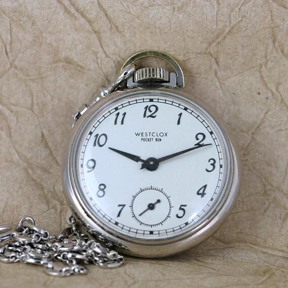 Vintage Westclox Pocket Ben Pocket Watch  -  Manufactured in Canada September 1968 - Retro Pocket Watches