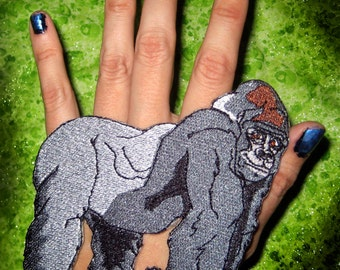Awesome Silver Back Gorilla Iron on patch
