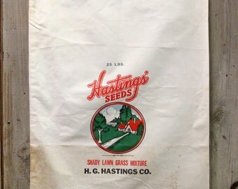HASTINGS SEED COMPANY Grass Seed Bag
