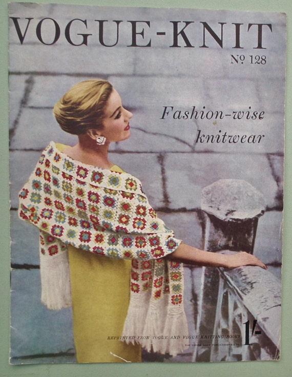 Vogue Vintage Knitting Patterns : Vogue Knitting Patterns Vintage 1950s Vogue-Knit No. 128