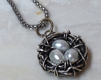 Jewelry Making TUTORIAL - Bird's Nest Wire Wrapped Pendant DIY, Beginner - Advanced, DIY, pendant tutorial, jewelry making tutorial, how to