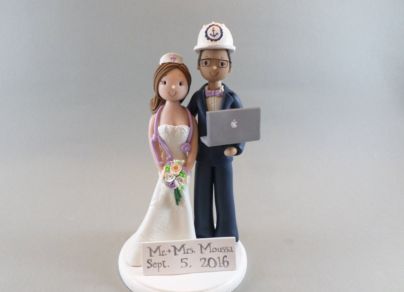 Cake Toppers Nurse Computer Engineer Customized Wedding