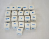 last chance Vintage Word Game Cubes Sentence Cubes Fun Craft Project Potential