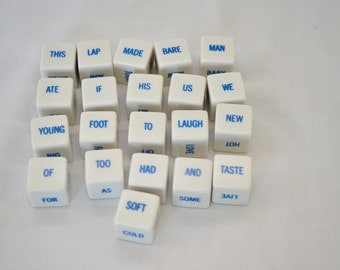 Vintage Word Game Cubes Sentence Cubes Fun Craft Project Potential