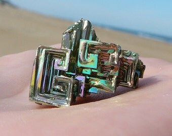 Tiny Bismuth Crystal #1 ~  Rainbow, Metaphysical, Chakra, Healing Crystal, Psychedelic, Fractals, Iridescent, Colorful