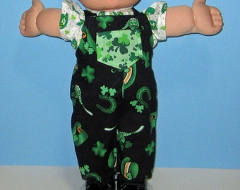 Cabbage Patch Kids, Doll Clothes, St Patricks Day, Irish Boy Set, 15  16 Inch Doll Clothes Vintage Classic Cabbage Patch
