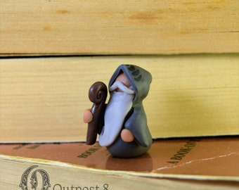 Miniature Old Wizard Figurine
