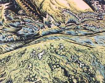 "Seabeast II 10"" x 30"" Silkscreen Print - Limited Edition"
