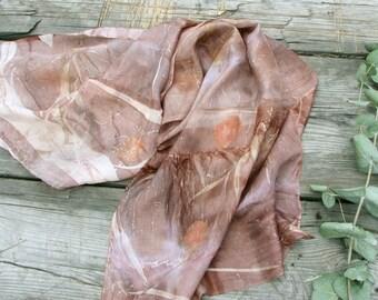 Silk scarf hand dyed
