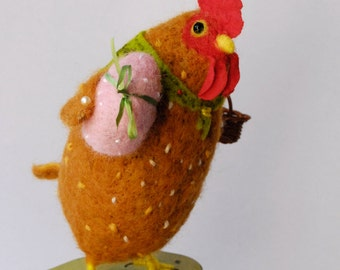 Needle  Felted Animals Spring Chicken  Handmade By Miss Bumbles