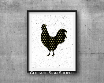 Rooster Wall Art, French Country Rooster Art, INSTANT DOWNLOAD, YOU Print, Rooster Kitchen Decor, Country Rooster Print,Rooster Wall Decor