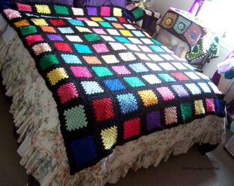 Glass Stain Crocheted Afghan Pattern