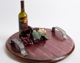 wine infused platter with rustic metal handles alpine wine design outdoor