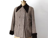 1930's Brown Wool and Velvet Jacket