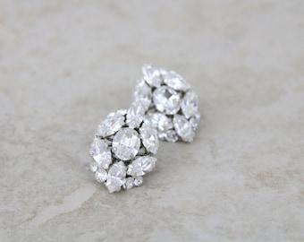 Crystal Stud earrings, Stud Bridal earrings, Wedding earrings, Rhinestone stud earrings, Swarovski crystal earrings, Vintage style earrings