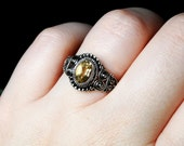Citrine Ring, Sterling Silver, Size 6.5: Golden Forest by CircesHouse on Etsy