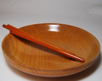 Handmade Wood Bowl, Handturned Wooden Bowl, Decorative Bowl, Shallow Figured Maple Wood Bowl