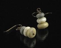Cairn Earrings, Zen Earrings, Pebble Earrings, Rock Earrings, Stone Jewelry Gift for Women, Niobium earrings, Buddhist Gift, Ready to Ship