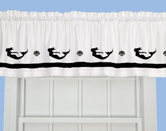 Mermaid Window Valance / Treatment - Your Choice of Colors