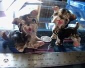 vintage dog figurine pair terriers