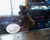 vintage dog figurine black miniature