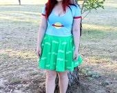 Matte Chuckie Skater Dress ~ Handmade, Geeky, Nerdy, Cartoon, Rugrats, 90s