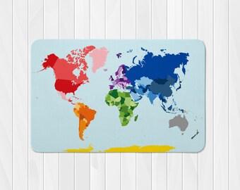 World Map Rug, World Map Nursery Rug, Custom Kids Rug, Map Decor, Custom Nursery Rug, Rugs for Nursery, Kids Room Rugs, World Map Area Rug