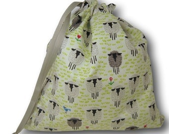 Sheep Doodles - Solo Sheepie, A Multi-skein Project Bag for Knitting or Crochet