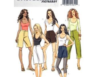 Womens Skirt, Pants, Shorts Pattern Crop Trousers Mini Skirt Butterick 5036 Side Pockets Sewing Pattern Size 8 10 12 14 UNCUT