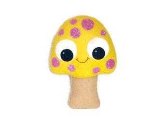 Mushroom Plush - Toadstool Nursery Decor - Woodland Decor - Mushroom Gift - Mushroom Plush - Kawaii Plush - Mushroom Softy - Weird Plush
