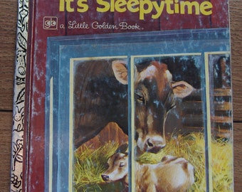 vintage 1968/77 little golden book Hush Hush It's Sleepytime animals bedtime children boy girl