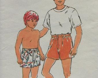vintage 1992 kwik sew pattern 2179 boy's boxer shorts sz 4-14 uncut boy's underwear