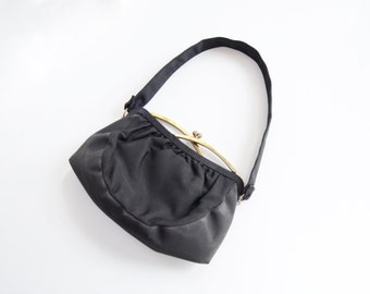 As Is 1940s Black Handbag