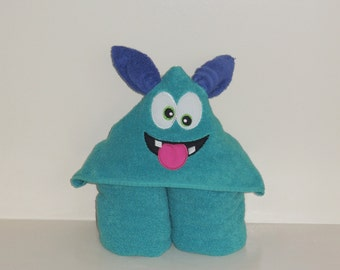Hooded Towel- Silly Monster