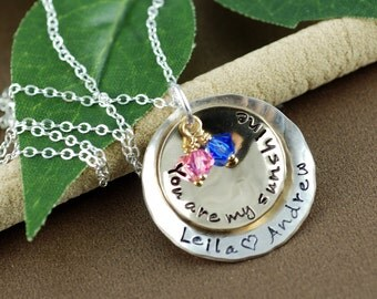 You Are My Sunshine Personalized Necklace, Hand Stamped Necklace, Personalized Jewelry, My only sunshine Necklace, Mother's Day Necklace