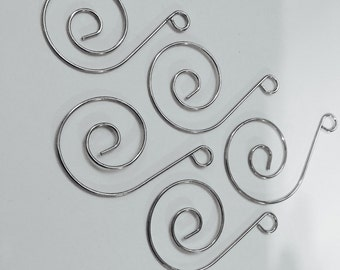 10 Silver-Tone Hangers Hooks for Sun Catchers and Chandelier Crystals(S-PB)