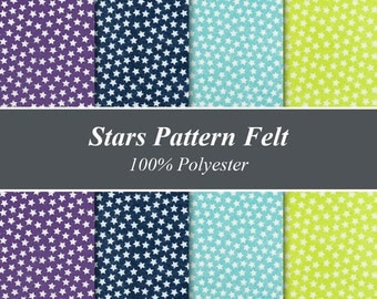 "Star Pattern Felt Sheets - 12"" X 12"", Multiple Pack Sizes Available"