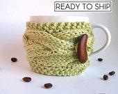 Coffee Cup Sleeve, Rustic Spring Decor, Coffee Mug Cozy, Coffee Cozy, Coffee Cup Cozy, Tea Cozy, Knit Cup Cozy Knit Coffee Cozy Tea Cup Cozy