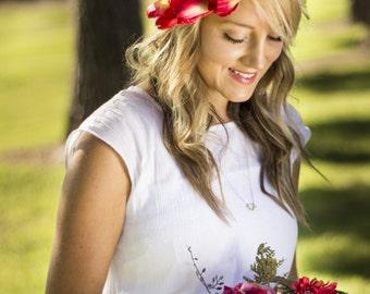 Maya Floral Crown Silk Flower Crown Maternity Photoshoot Wedding Accessory