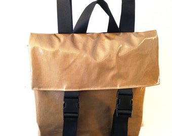 Vegan Backpack in Gold Yellow color - Large Size.