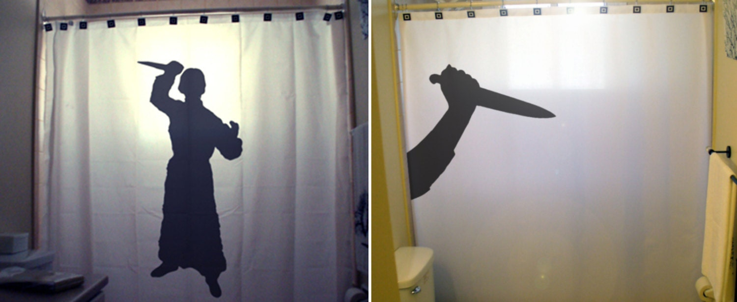 Halloween shower curtain hooks - Psycho Knife Killer Halloween Shower Curtain Funny Shower Curtains Kids Shower Curtains Horror
