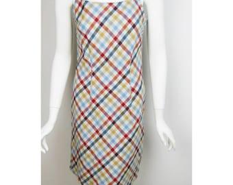 VTG 90s Plaid Dress Grunge Small 4