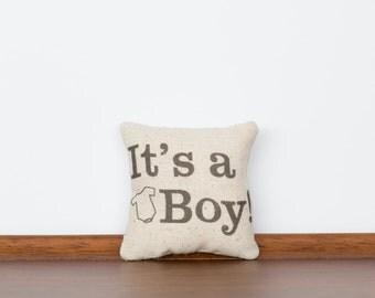 It's a Boy TinyTalk Pillow | Gender Reveal Announcement | Baby Boy Ornament | Baby Shower | Pregnancy Announcement | Baby Boy Blue | Invite