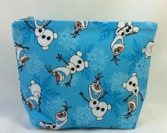 POUCH- Frozen: Olaf **handmade**