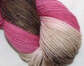 Chocolate Cherry Cupcake--Alley Cat--SW merino/nylon
