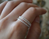 3 Silver Drop Stackers- your size made to order