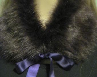 Purple Faux Fur Collar