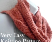 Scarf Pattern Knitting Pattern Beginner Tutorial Easy Knit Beginner Knitting with Photos You Can Sell What You Make PDF - Instant Download