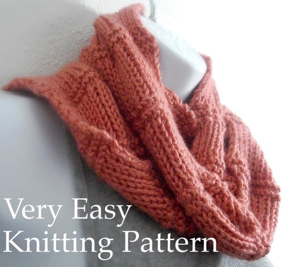 Knitting Pattern For Beginner : Scarf Pattern Knitting Pattern Beginner Tutorial Easy Knit